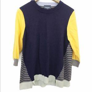 Modcloth Well Placed Pep Color Block Sweater
